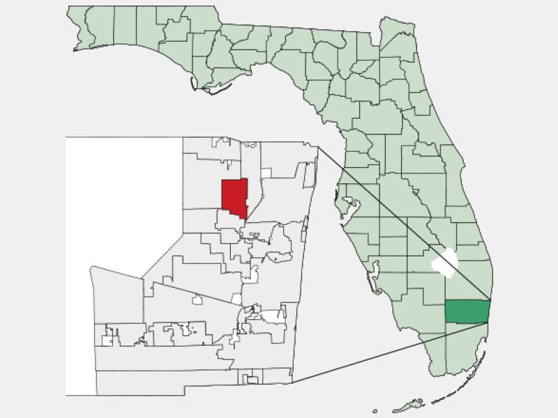 Margate, FL locator map
