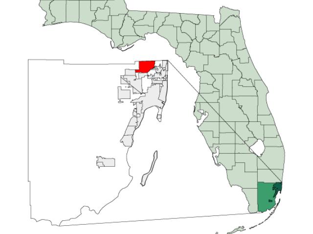 Miami Gardens locator map
