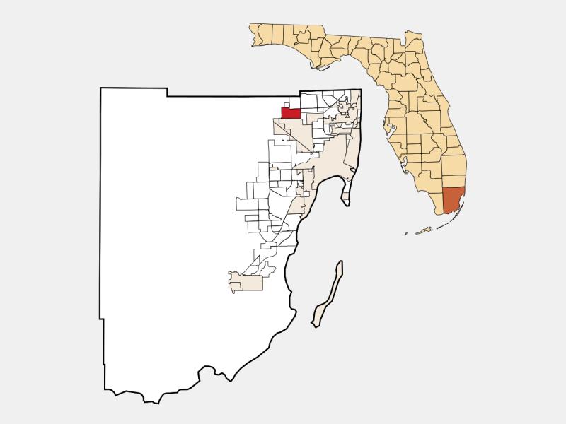 Miami Lakes, FL locator map