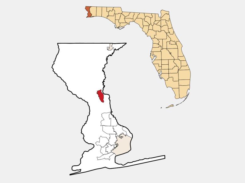 Molino locator map