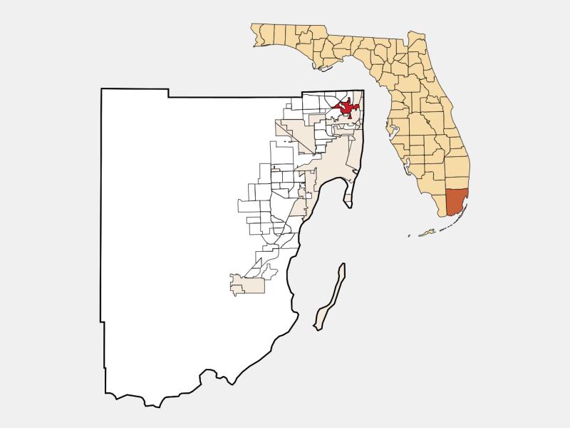 North Miami Beach locator map