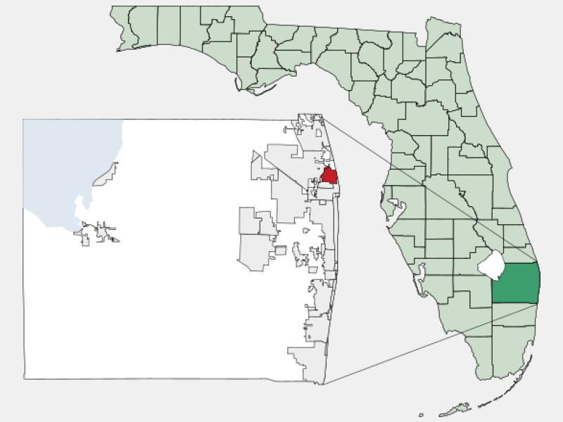 North Palm Beach locator map