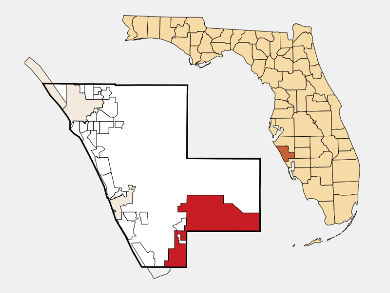 North Port locator map