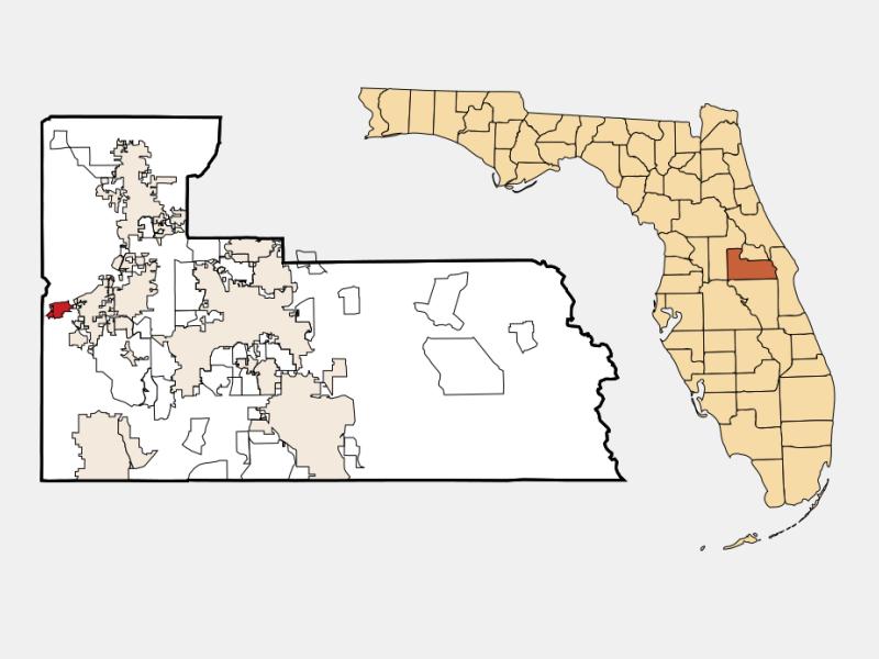 Oakland locator map