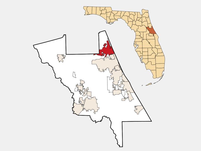 Ormond Beach, FL locator map