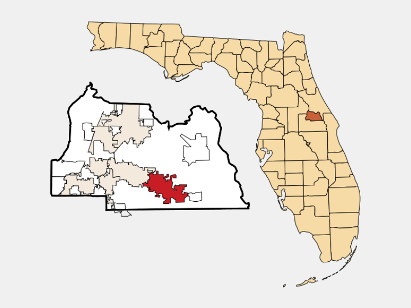 Oviedo, FL locator map