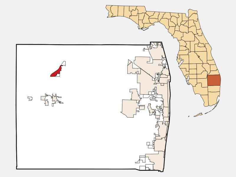 Pahokee locator map