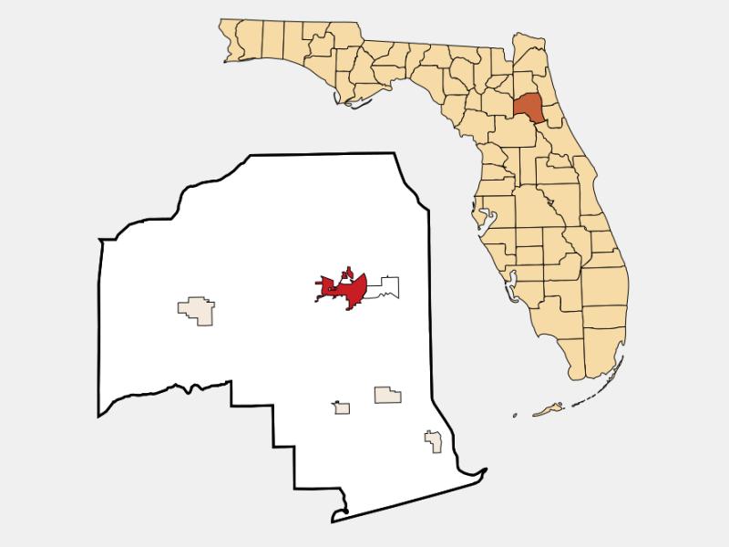 Palatka location map