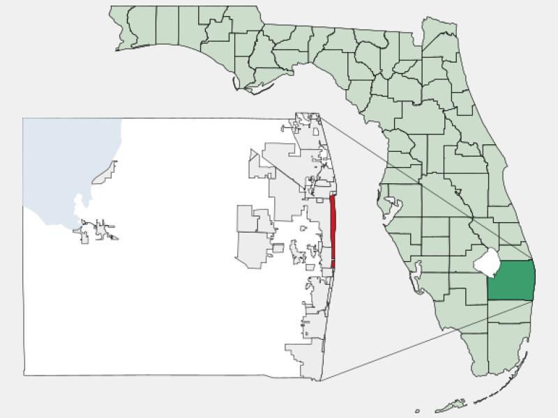 Palm Beach locator map