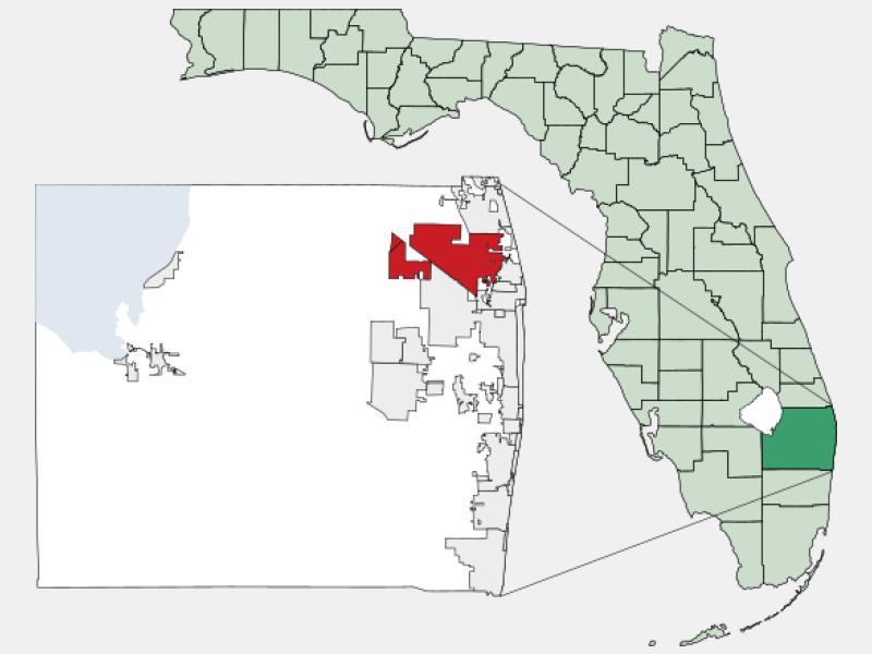 Palm Beach Gardens locator map