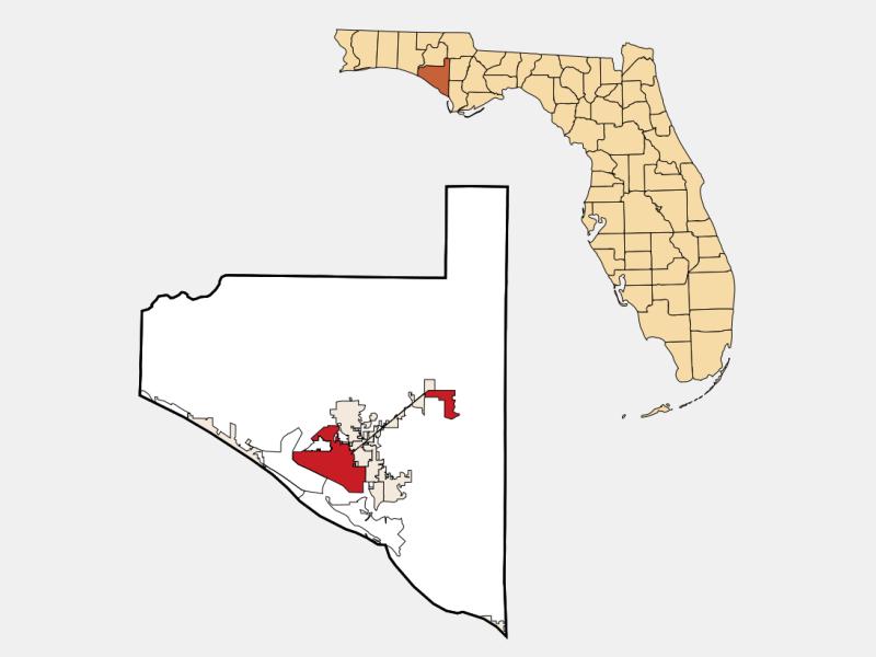 Panama City, FL locator map