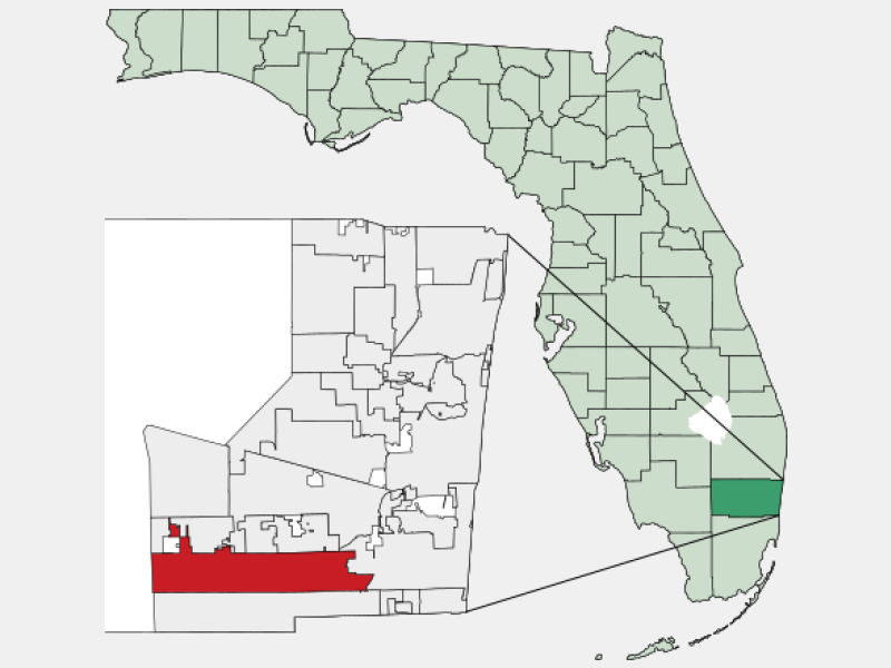Pembroke Pines, FL locator map