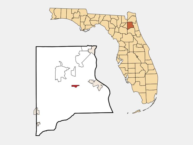 Penney Farms locator map