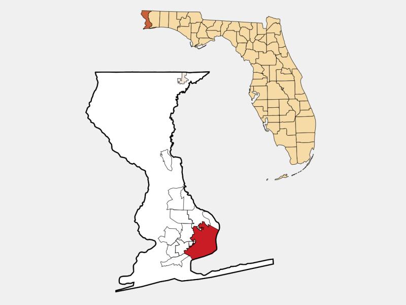 Pensacola locator map