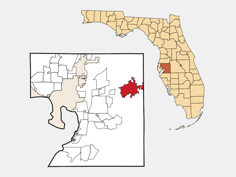 Plant City, FL locator map