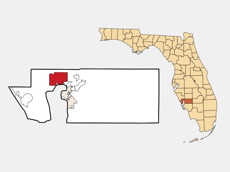 Port Charlotte locator map