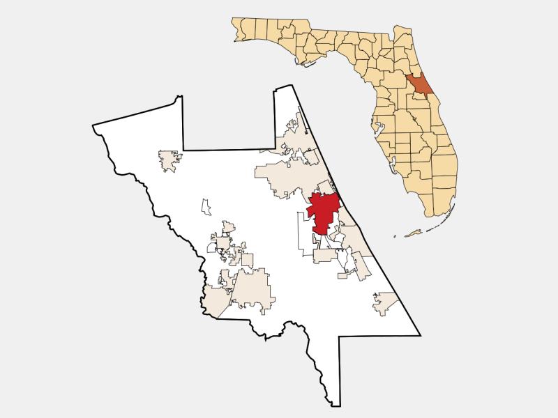 Port Orange locator map