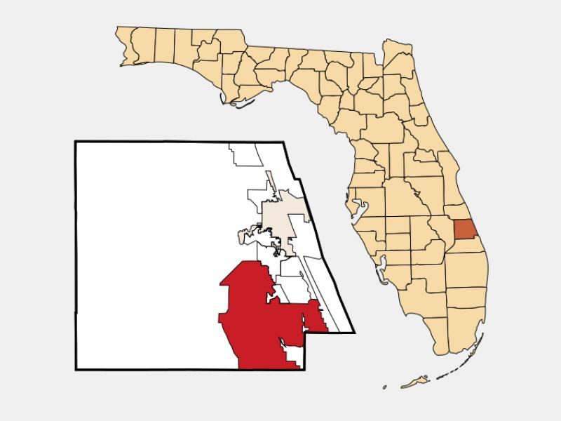 Port Saint Lucie locator map