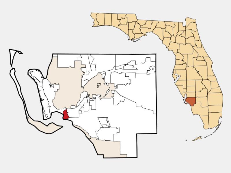 Punta Rassa location map