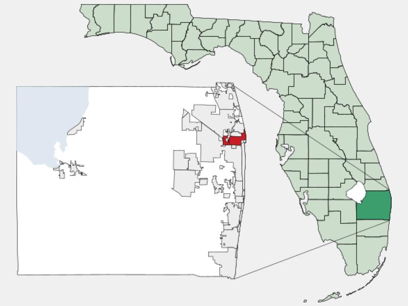 Riviera Beach locator map