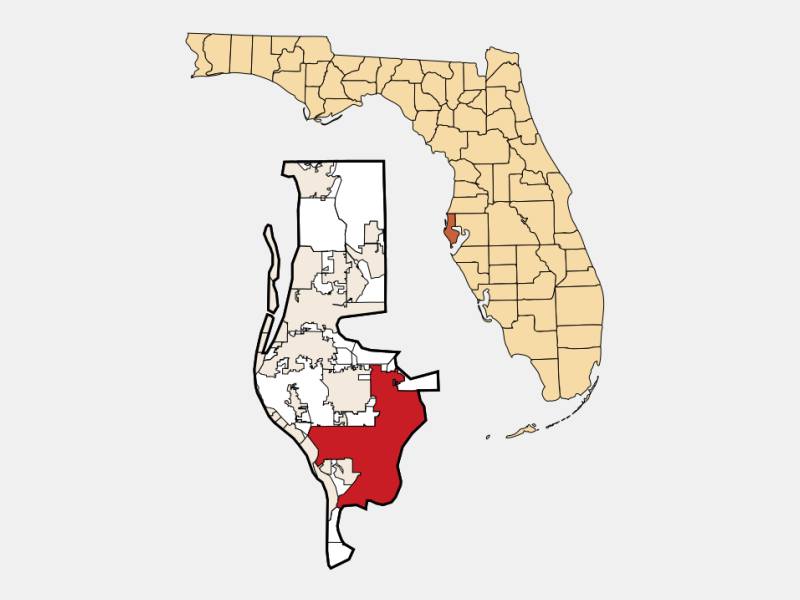 St. Petersburg, FL locator map
