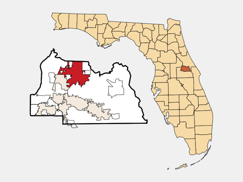 Sanford, FL locator map