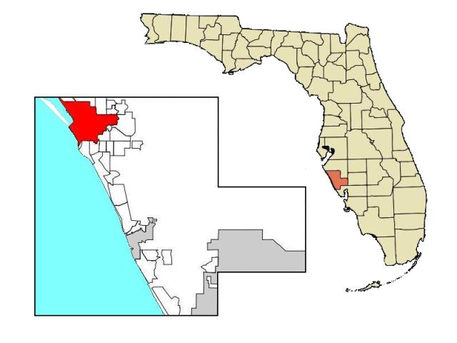Sarasota locator map