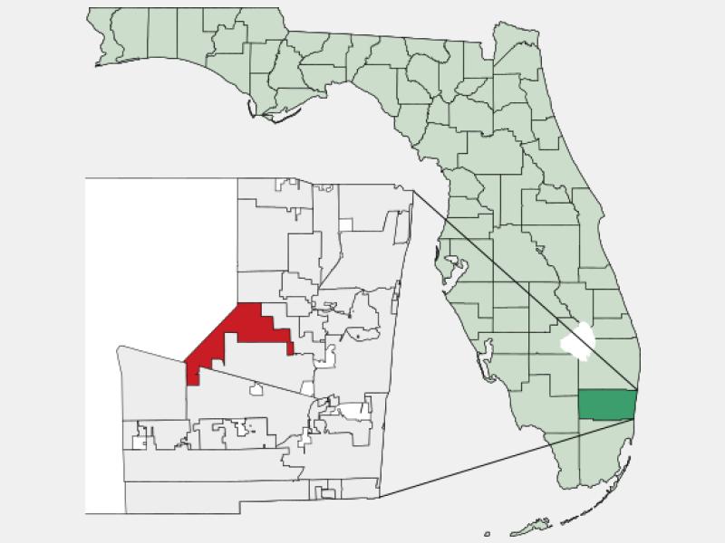 Sunrise, FL locator map