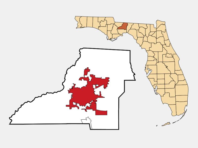 Tallahassee locator map