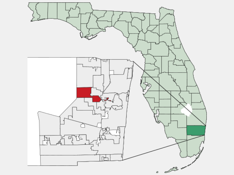 Tamarac, FL locator map