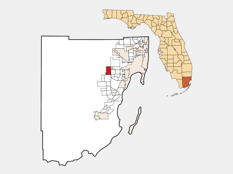 Tamiami locator map