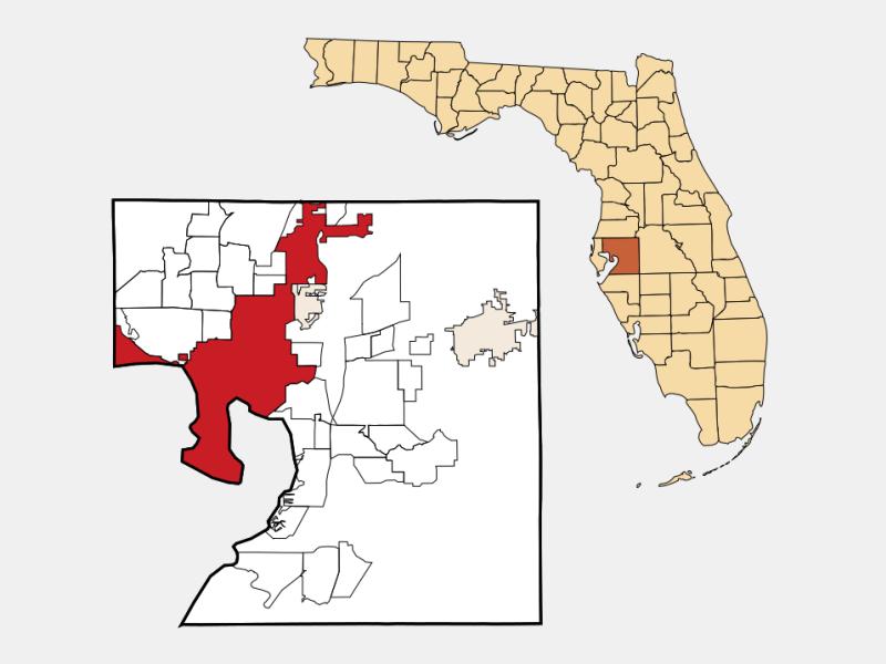 Tampa locator map