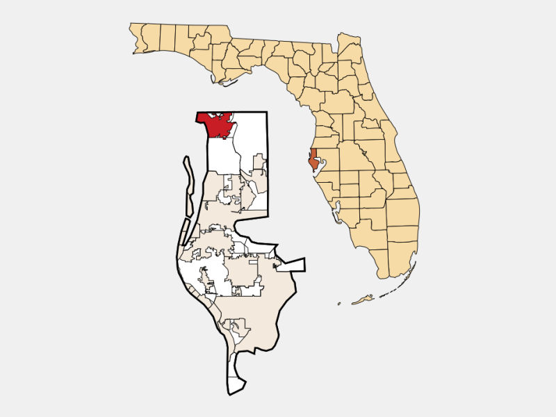 Tarpon Springs, FL locator map