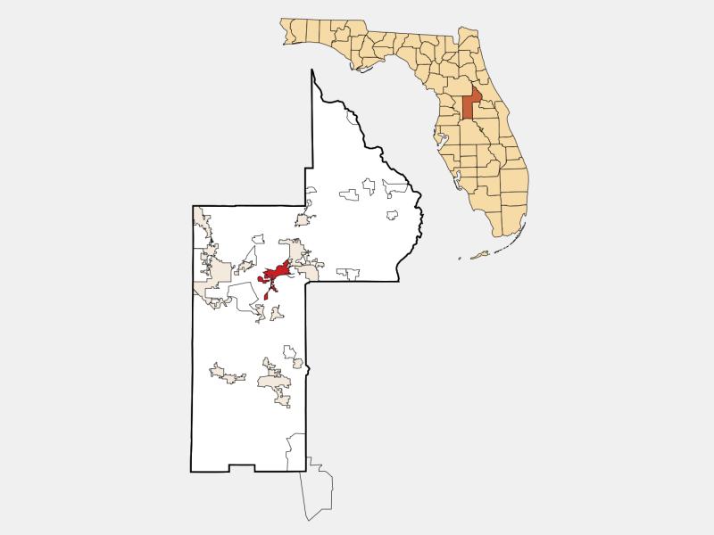 Tavares locator map