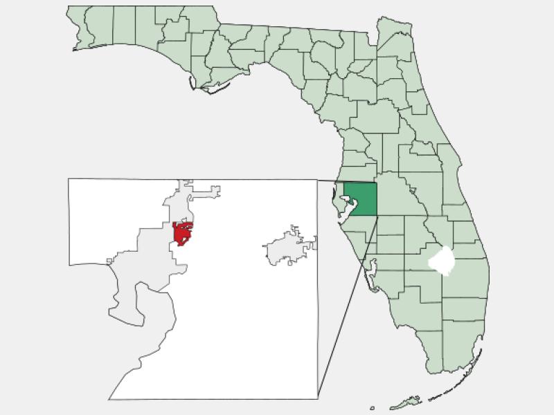 Temple Terrace, FL locator map