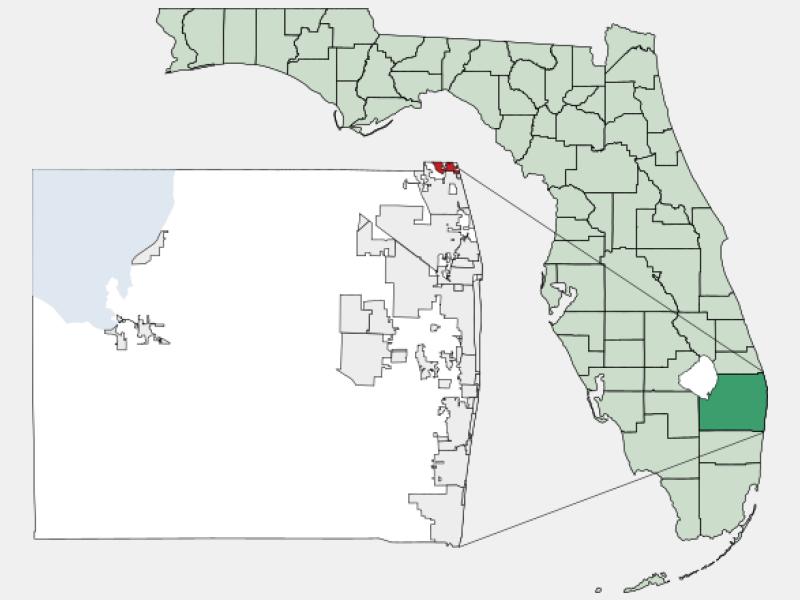 Tequesta locator map