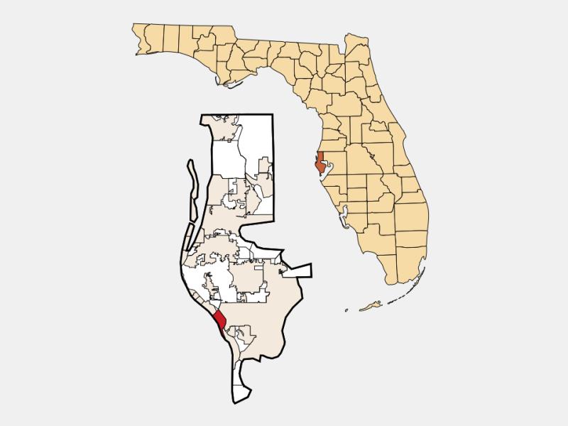 Treasure Island locator map