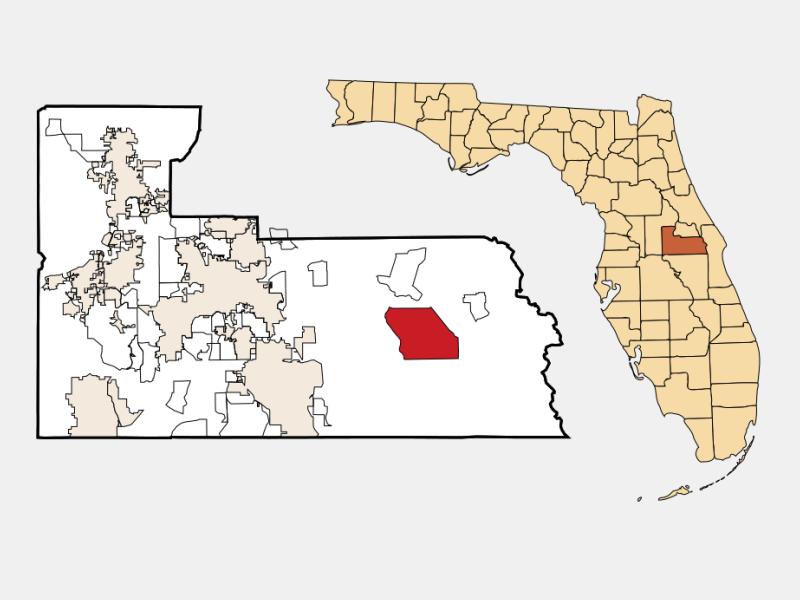 Wedgefield locator map