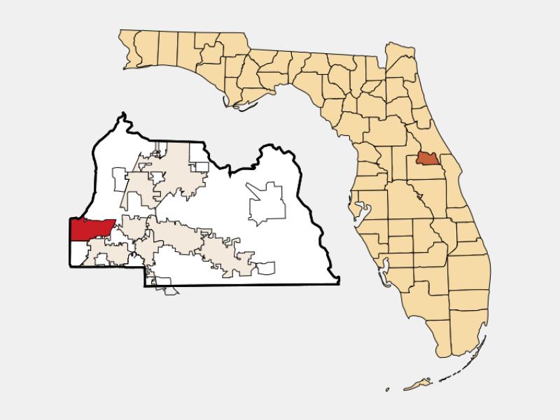 Wekiwa Springs locator map