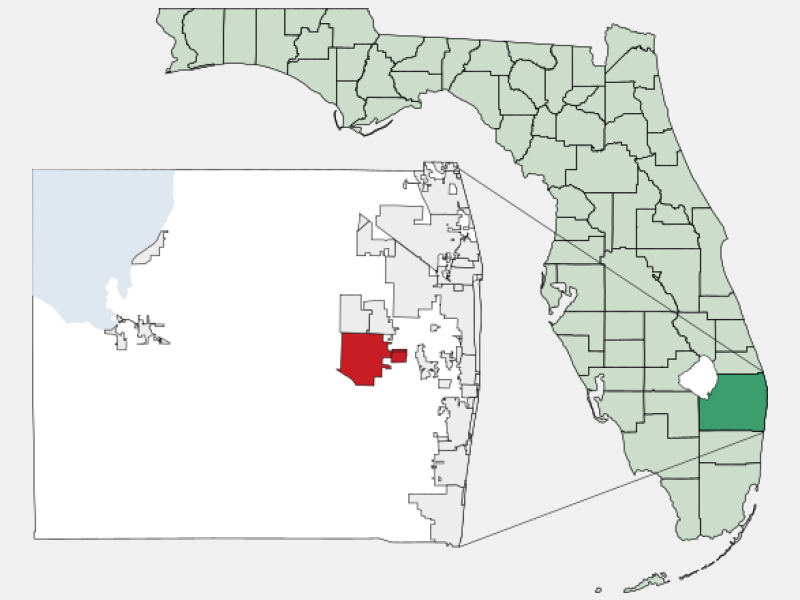 Wellington, FL locator map