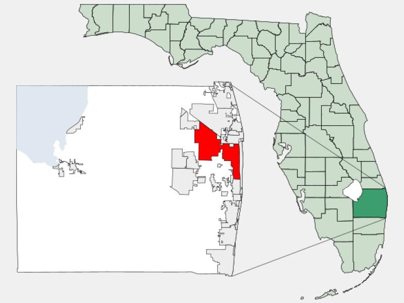 West Palm Beach, FL locator map