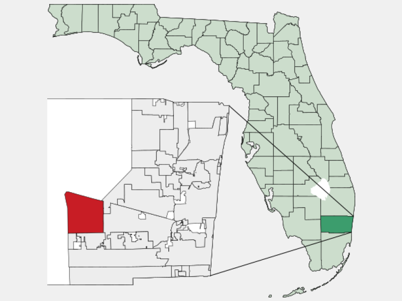 Weston, FL locator map