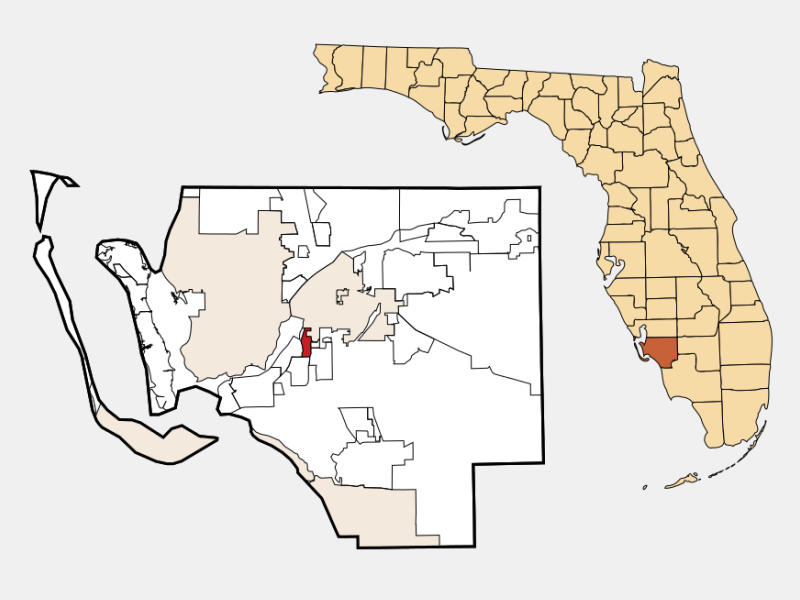 Whiskey Creek locator map