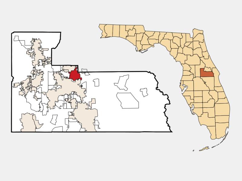 Winter Park, FL locator map