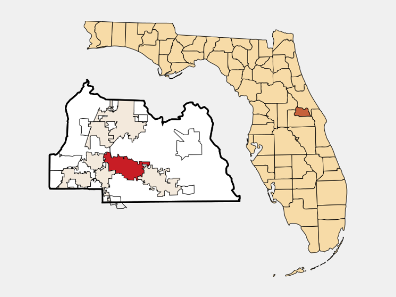 Winter Springs, FL locator map