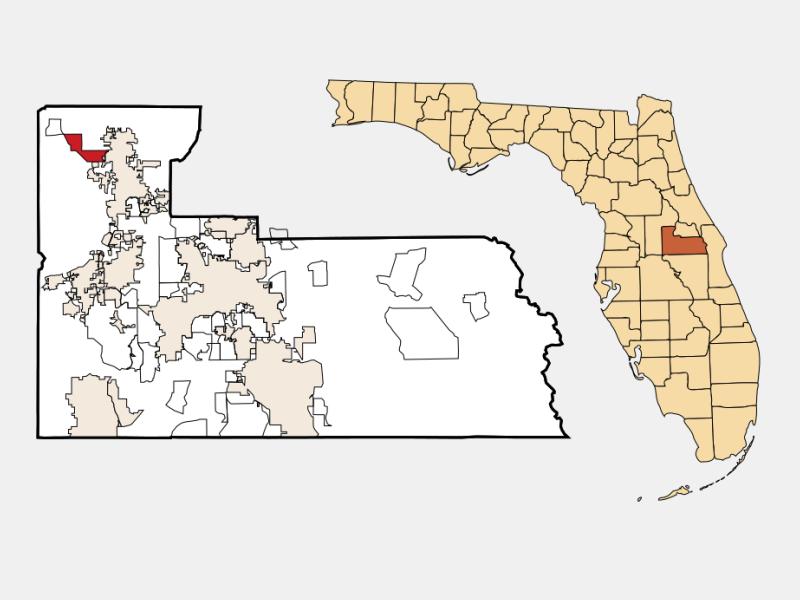 Zellwood locator map