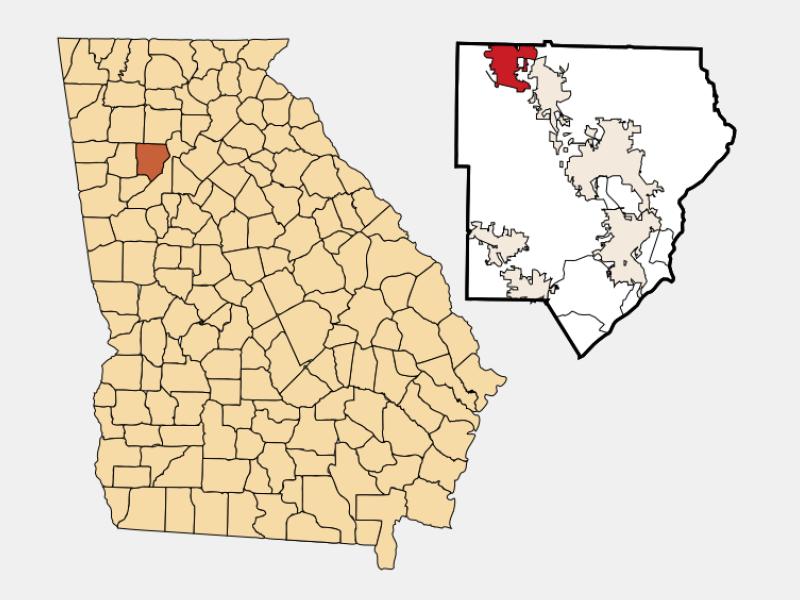 Acworth locator map