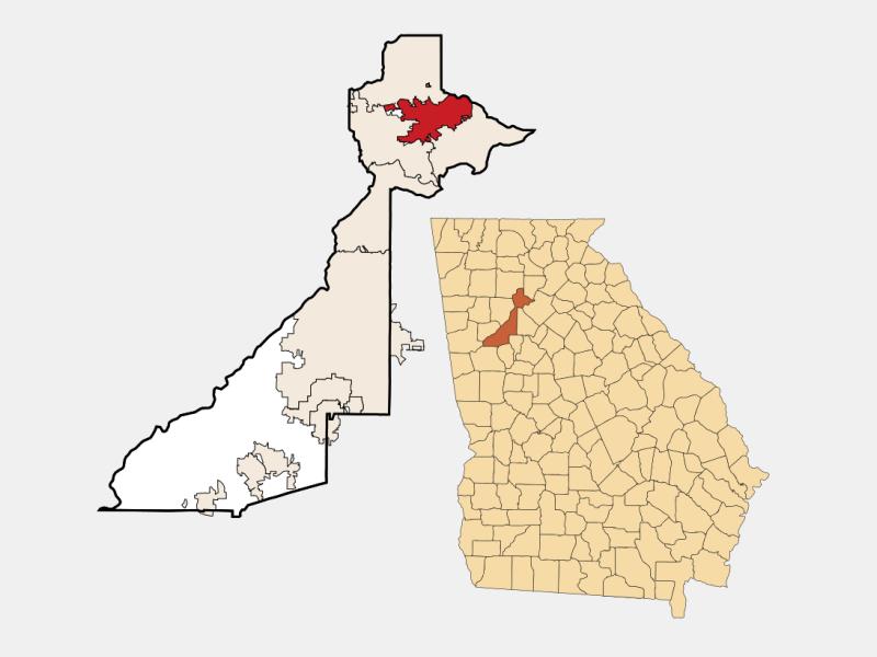 Alpharetta locator map
