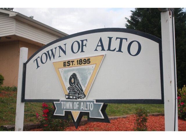 Town of Alto sign image