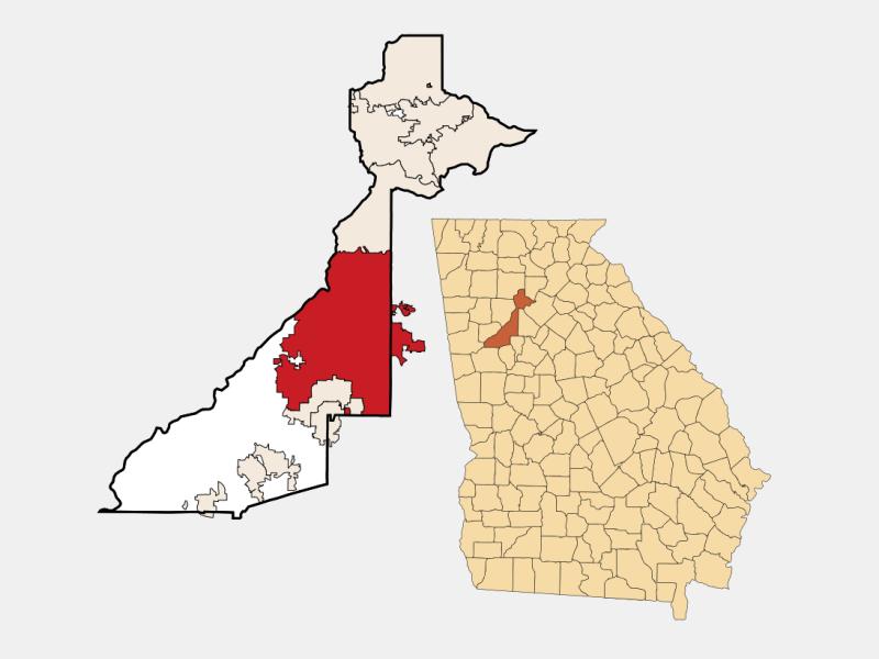 Atlanta locator map